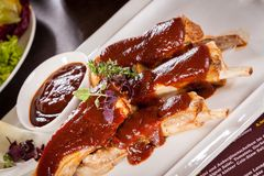 Delicious grilled pork ribs Stock Images