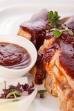 Delicious grilled pork ribs Stock Photography