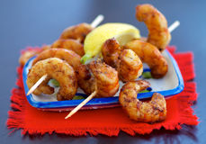 Delicious Grilled Prawns Royalty Free Stock Photo