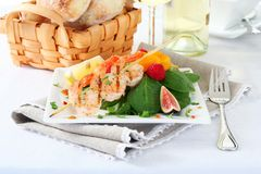 Delicious grilled shrimps Royalty Free Stock Images