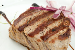 Delicious grilled steak Stock Photography