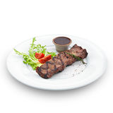 Delicious grilled steak.  on white Stock Image