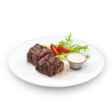 Delicious grilled tenderloin steak Stock Photos