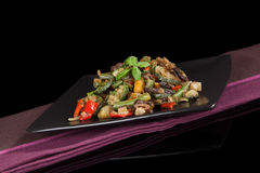 Delicious grilled vegetable mix. Stock Photos
