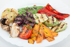 Delicious grilled vegetables Stock Images