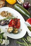 Delicious grilled vegetables Stock Photo