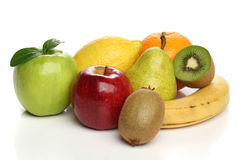 Delicious group of healthy fruits royalty free stock photography