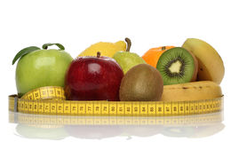 Delicious group of healthy fruits stock image