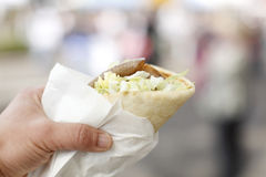 Delicious gyro sandwich. Stock Photography