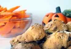 Delicious halloween pumpkin cakes Stock Photography