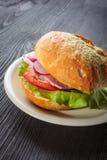 Delicious ham baguettes Stock Image