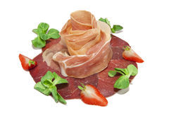 Delicious ham like rose form Stock Photo