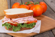 Delicious Ham Sandwich Stock Photo