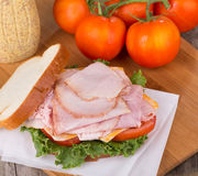 Delicious Ham Sandwich Stock Photos