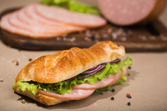 Delicious ham sandwich Stock Photography