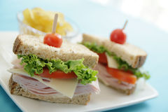 Delicious ham sandwiches Royalty Free Stock Images
