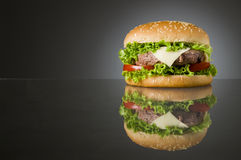 Delicious hamburger Stock Images