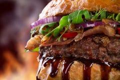 Delicious hamburger Stock Photos