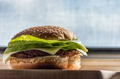 Delicious Hamburger Royalty Free Stock Photography