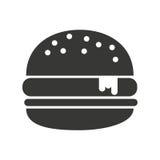Delicious hamburger isolated icon design Stock Photography