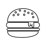 Delicious hamburger isolated icon design Royalty Free Stock Photography