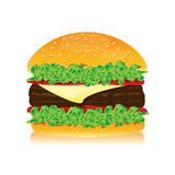 Delicious hamburger for lunch Stock Photography
