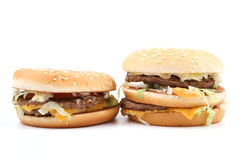 Delicious hamburgers Royalty Free Stock Images
