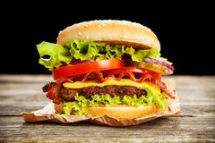 Delicious hamburgers Royalty Free Stock Photography