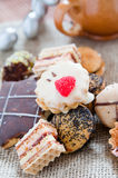Delicious hand made cookies Stock Photography