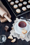 Delicious hand made cookies Royalty Free Stock Images