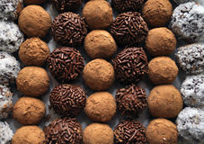 Delicious Hand Made Truffles Royalty Free Stock Images