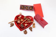 Delicious handmade Chocolates to give as a gift to anyone you love. stock photos