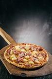Delicious Hawaiian Italian pizza Royalty Free Stock Photo