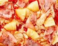 Delicious Hawaiian pizza topping background royalty free stock photo