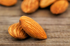 Delicious and healthy almonds Stock Images