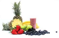 Blended Fresh Fruit Juice Smoothie Stock Photography