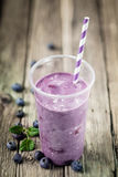 Delicious healthy blueberry smoothie Stock Image