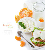 Delicious healthy breakfast Stock Images
