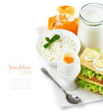 Delicious healthy breakfast of fresh products Stock Photo