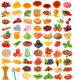 Delicious and Healthy Food Set Isolated on White Background Royalty Free Stock Photo