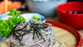 Delicious Soba Noodle And Lettuce royalty free stock photos