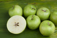 Delicious healthy fresh green apples Royalty Free Stock Image
