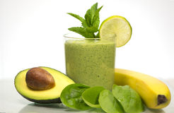 delicious healthy green vegetables smoothie Stock Images
