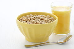 Delicious and healthy honey nuts cereal Royalty Free Stock Images