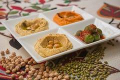 Delicious and healthy hummus Stock Photos