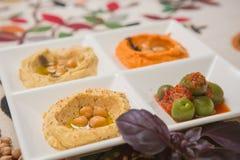 Delicious and healthy hummus Royalty Free Stock Photos