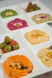 Delicious and healthy hummus Royalty Free Stock Images