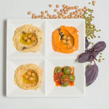 Delicious and healthy hummus Royalty Free Stock Photography