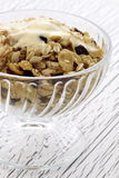 Delicious and healthy muesli or granola Royalty Free Stock Images