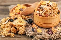 Delicious healthy muesli Stock Images